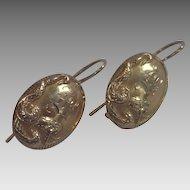 Art Nouveau  Earrings, 14K Snake Motif , Circa 1900