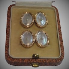 Cufflinks, 14K , Mother Of Pearl & Natural Pearls ,  Larter & Sons