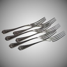 Silver Plate Dinner Forks,  French  Circa 1900