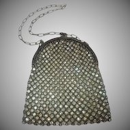 Vintage French Mesh & Rhinestone Studded Purse