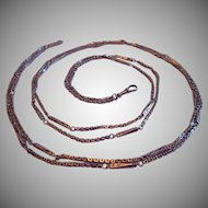 Antique Ladies Guard / Watch Chain , 10K Fancy Link