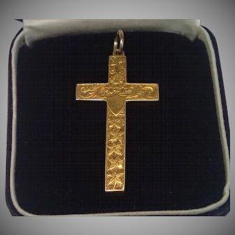 Cross , 15CT , Ivy Motif , English C. 1910