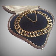 Antique 14K Bracelet With Rubies, Diamonds & Sapphire