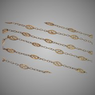 "French Chain ,18K , 44"" Long, 19.0 Grams"