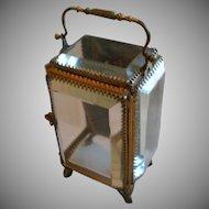 Jewel Casket , Glass & Brass, French,  C. 1890