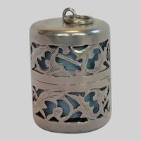 Sterling Silver Thread Holder, American C. 1900