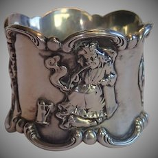 Sale Pending for KM ......Art Nouveau Sterling  Napkin Ring , Gorham ' Old King Cole '