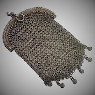 French 800 Silver Antique Coin Purse
