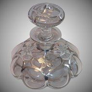 Art Nouveau Sterling Overlay Perfume Bottle By ALVIN