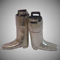 Silverplate Knitting Needle Boots , English Circa 1907