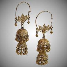 18K Earrings,  Antique Persian Jhumka ... 28.3 Grams