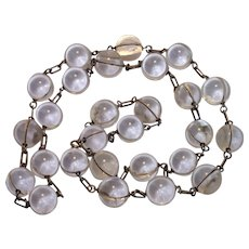 """Pools Of Light Necklace , 34 & 1/2"""" Long , 16mm Orbs"""