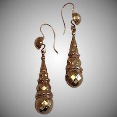 Antique 9 CT. Drop-Style Earrings