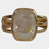 Antique Ring, 18 CT & Rock Quartz Crystal