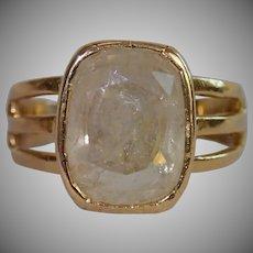 Antique Ring, 18 CT & Rock Quartz Crystal