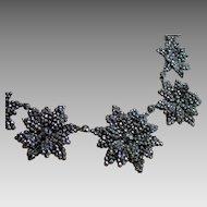 """Georgian Cut Steel Necklace, 16"""" Long"""