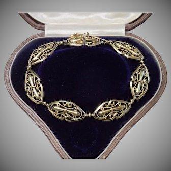 18 CT French Bracelet, Antique