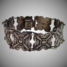 Vintage Bracelet , Mexican Sterling Link
