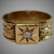 Victorian 14K & Diamond Band Ring