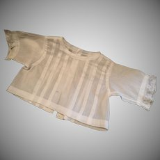 Doll Blouse , Linen Lawn Cloth , French C.1880