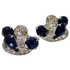 Eisenberg Rhinestone Clip Earrings