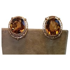 Vintage 14K & Citrine Earrings