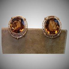 Vintage 14K & Citrine Earrings