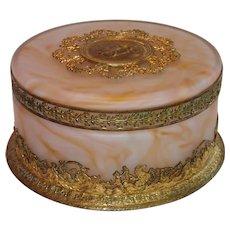 French Powder Jar , Signed J. P. Legastelois