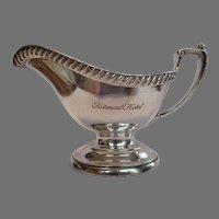 Vintage Fairmont Hotel Silver Sauce Boat