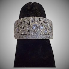 Estate Diamond & 14K White Gold Ring