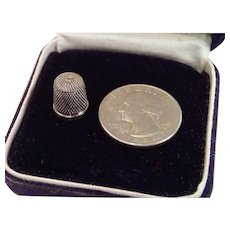 Sterling Child's Thimble