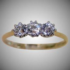 Edwardian Diamond Ring ,18CT & Platinum