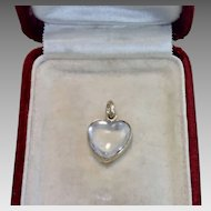 Antique Rock Crystal & 15 CT Gold Heart Charm