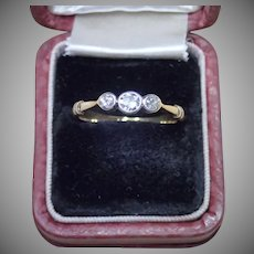 Edwardian Diamond Ring , Platinum & 18 CT