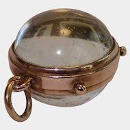 Antique  9CT & Glass Ball Locket