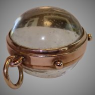 Antique  9CT & Glass Ball Locket