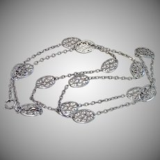 French Silver Chain