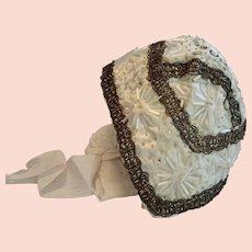 Antique French Christening Bonnet