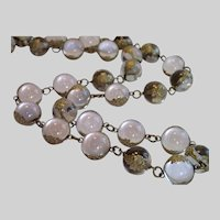 Pools Of Light Necklace W/ Sterling Floral Wraps