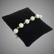 Jade & 14K Wire Link Bracelet