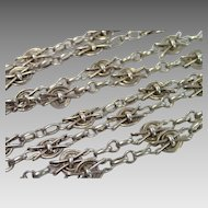 Antique French Sterling Guard Chain