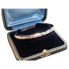 Antique 14K Faceted Bangle Bracelet