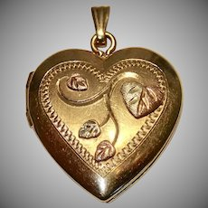 Vintage 10K Heart Locket