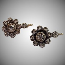 Antique Diamond Earrings , Traditional Portuguese