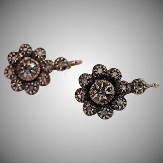 Antique Diamond Earrings , Traditional Portuguese