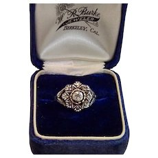Antique Rose-Cut Diamond Ring , Traditional Portuguese