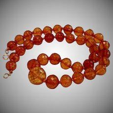 Vintage Amber Beads W/ 14K Clasp