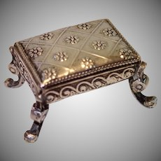 Antique Miniature Silver French Footstool