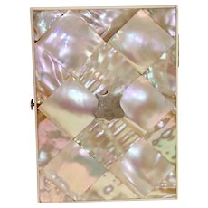 Victorian Calling Card Case , Mother Of Pearl