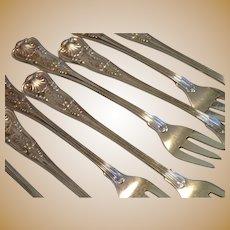 Vintage Fairmont Hotel Seafood Cocktail Forks, Set Of 8